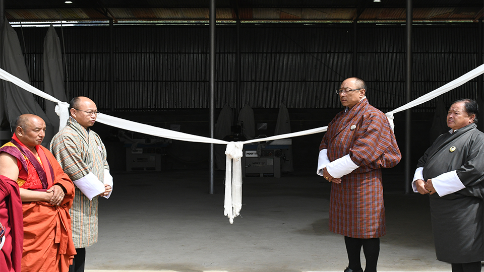Inauguration of NHDCL Paver & Concrete Bricks Factory and NHDCL Wood Works  at Jemina Industrial Estate by Chairman  Dasho Pema Chewang on 03/08/2019